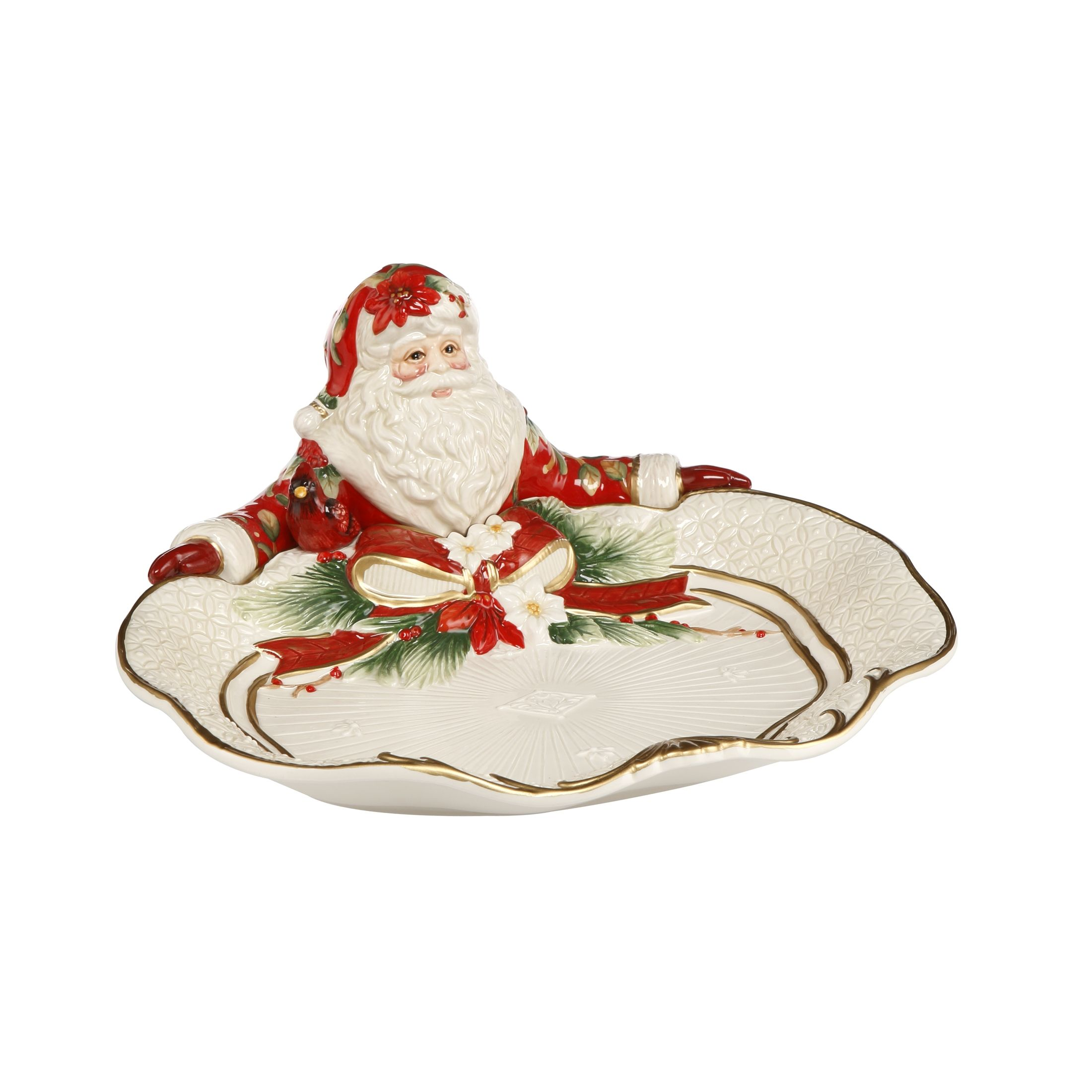 Fitz And Floyd Christmas 2021 Schale Santa Prasentiert Fitz Floyd Xmas Goebel Shop
