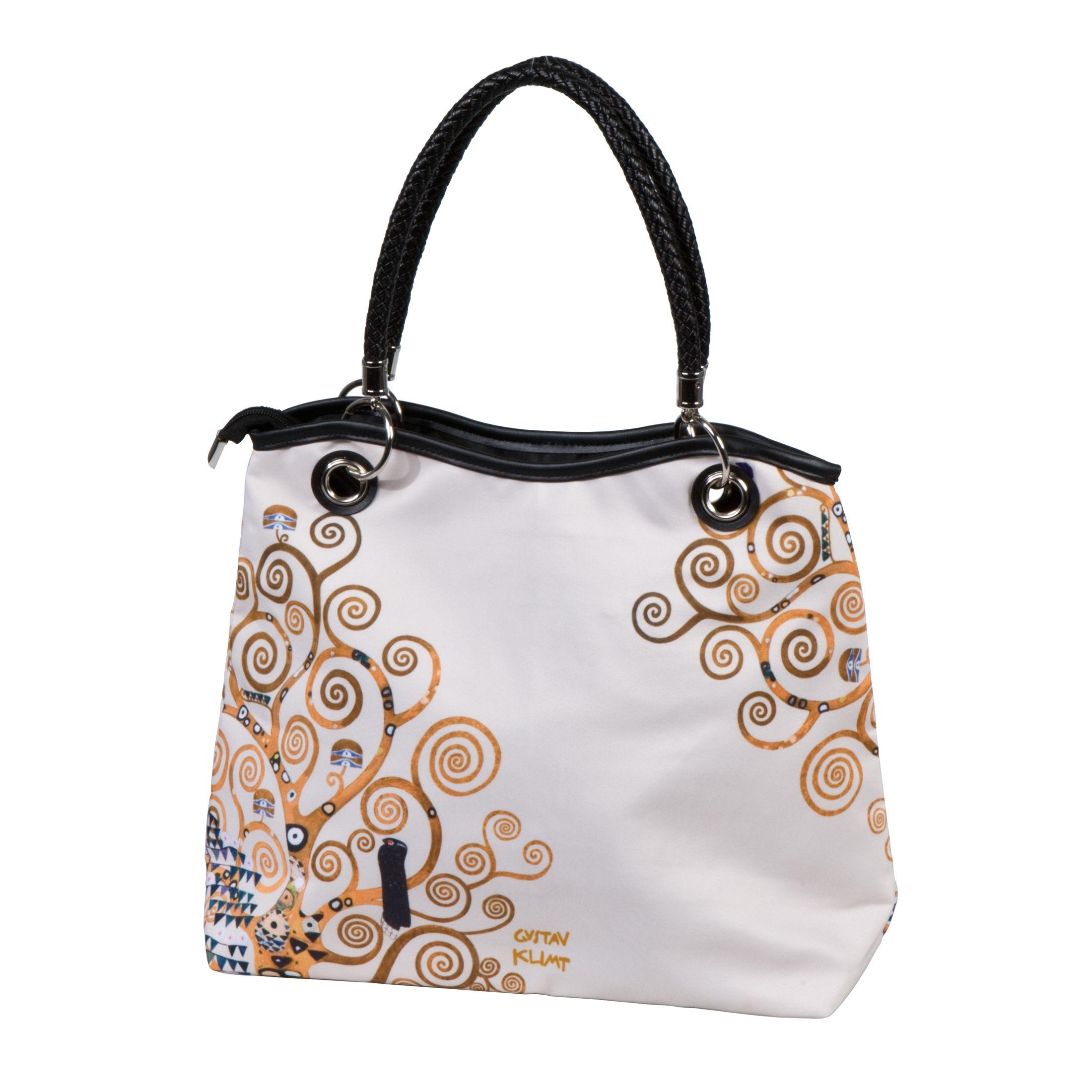 Gustav Klimt Handtasche 33 x 31cm 67060221 Der Lebensbaum GOEBEL ARTIS ORBIS