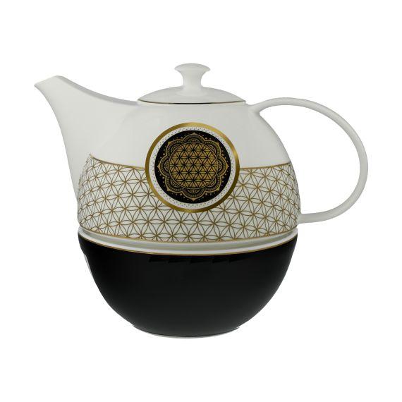 Produktbild von Blume des Lebens - Teekanne mit Stövchen Lotus Yin Yang