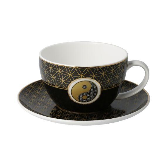 Produktbild von Yin Yang Schwarz - Tee-/Cappuccinotasse Lotus Yin Yang