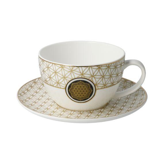 Produktbild von Blume des Lebens - Tee-/Cappuccinotasse Lotus Yin Yang