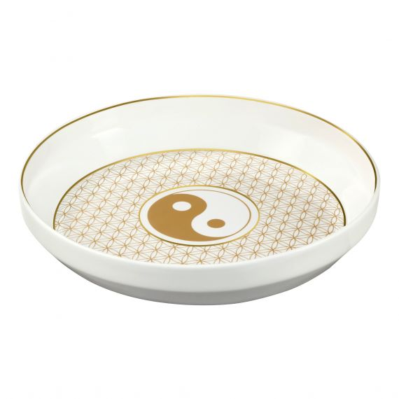 Produktbild von Yin Yang Weiß - Schale 31 cm Lotus Yin Yang