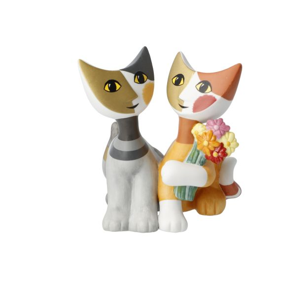 Produktbild von Katzenfigur 9,5 cm Mazzo di fiori – Rosina Wachtmeister Katzenwelt