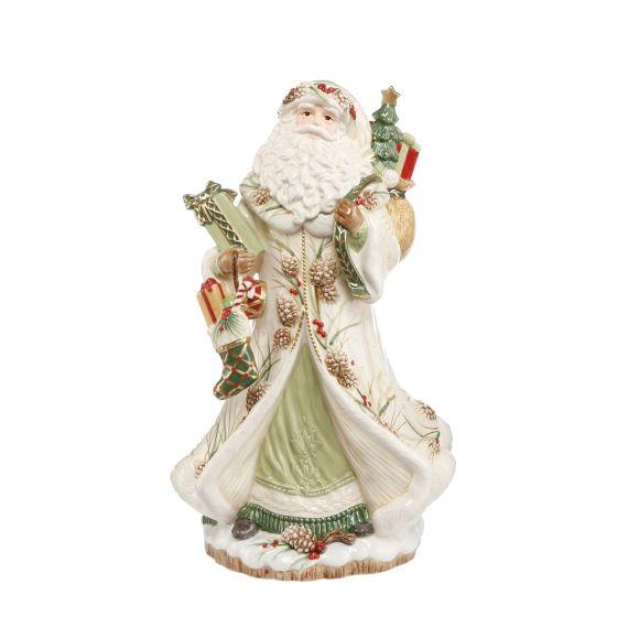 Produktbild von Figur Santa mit Geschenken grün Fitz & Floyd XMAS