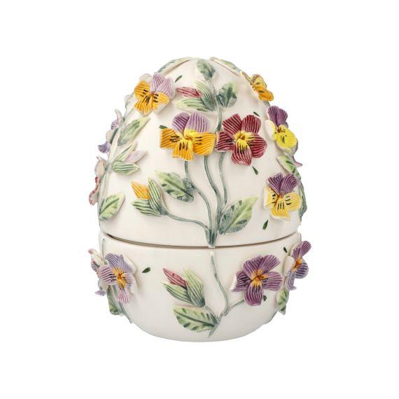 Produktbild von Bunte Stiefmütterchen - Ei-Dose 15 cm Fitz & Floyd Spring-Collection