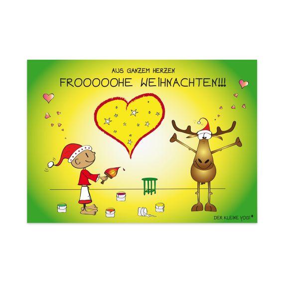 Produktbild von Postkarte - Aus ganzem Herzen Der kleine Yogi