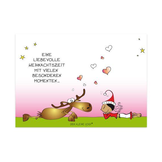 Produktbild von Postkarte - Eine liebevolle Weihnachts. Der kleine Yogi
