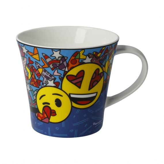 Produktbild von I Love You - Coffee-/Tea Mug Pop Art Romero Britto Emojis