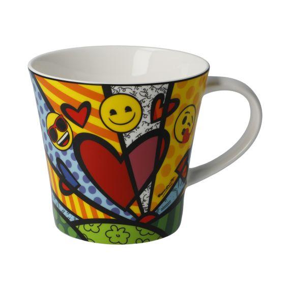 Produktbild von A New Day - Coffee-/Tea Mug Pop Art Romero Britto Emojis