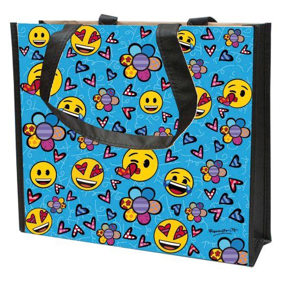 Produktbild von Always Happy - Einkaufstasche Pop Art Romero Britto Emojis