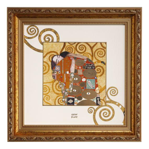 Produktbild von Wandbild/-teller Erfüllung Artis Orbis Gustav Klimt