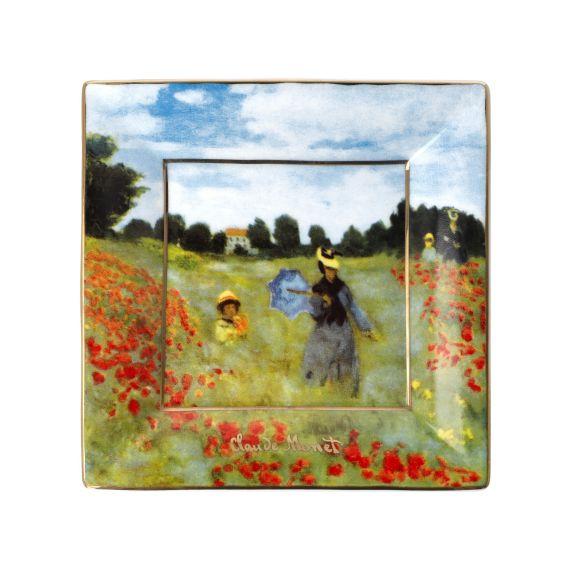 Produktbild von Teller Mohnfeld 12x12 cm Artis Orbis Claude Monet