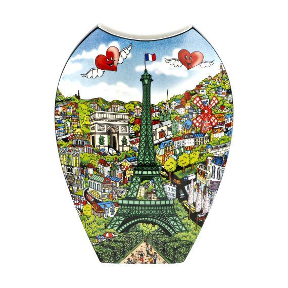 Produktbild von Come Visit Me in Paris / The Lights... - Vase 30 cm Pop Art Charles Fazzino