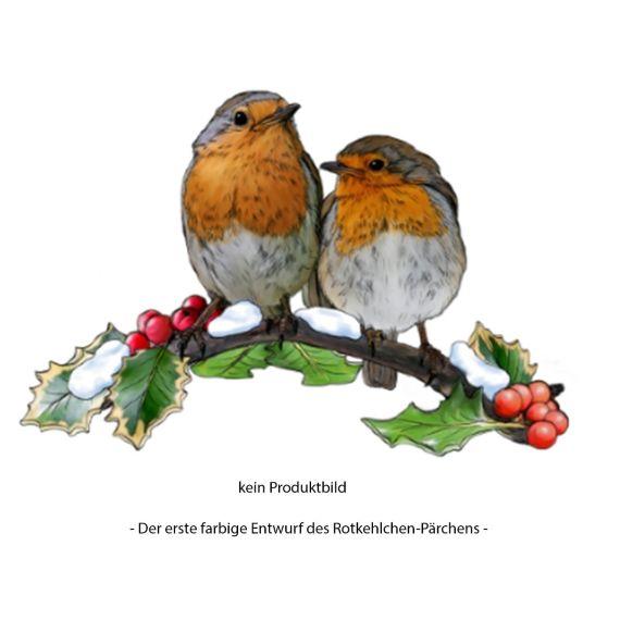 Produktbild von Vogel des Jahres 2021 Rotkehlchenpärchen - jetzt vorbestellen
