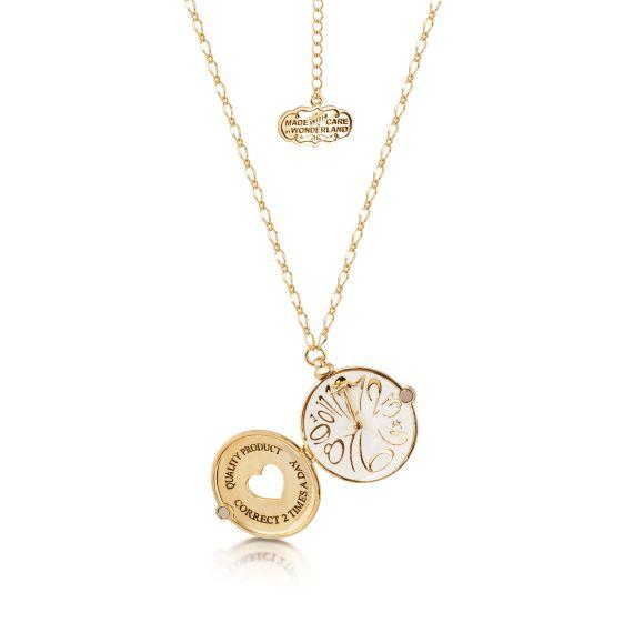 Produktbild von Disney Taschenuhr - Halskette Medaillon Gold Couture Kingdom Alice im Wunderland