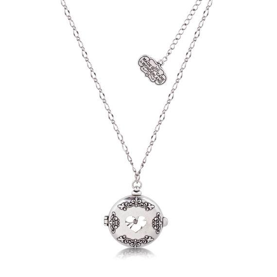Produktbild von Disney Taschenuhr - Halskette Medaillon Weißgold Couture Kingdom Alice im Wunderland