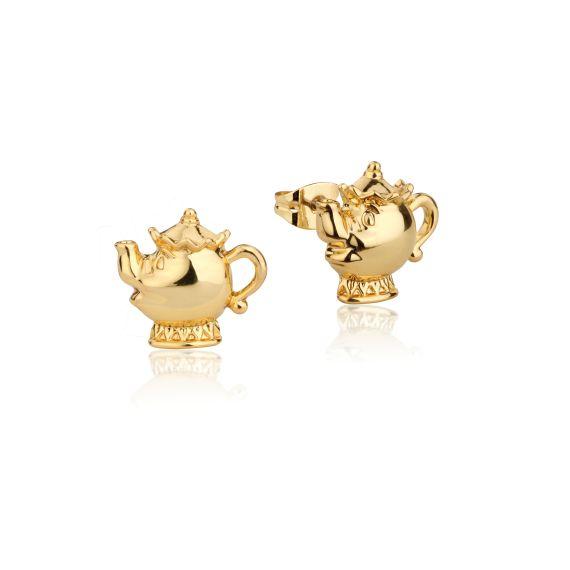Produktbild von Disney Madame Pottine - Ohrstecker Gold Couture Kingdom Die Schöne und das Biest