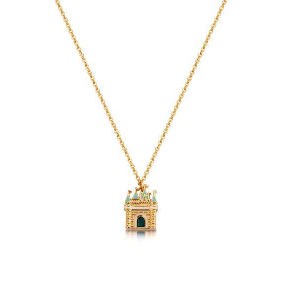 Produktbild von Disney Schloss - Halskette Gold Couture Kingdom Cinderella