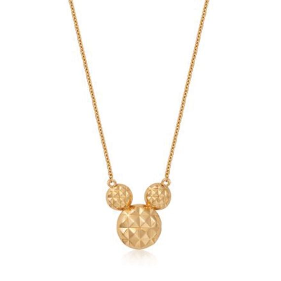 Produktbild von Disney Mickey Maus - Halskette Diamond Cut 9K Gold Couture Kingdom