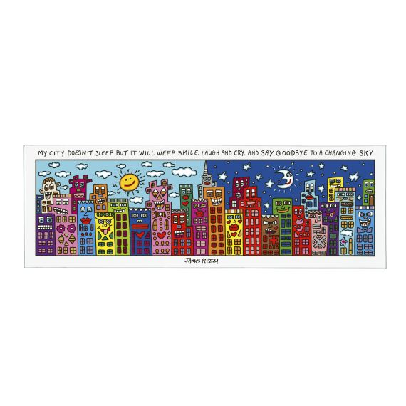 Produktbild von My City Does Not Sleep - Magnettafel Pop Art James Rizzi