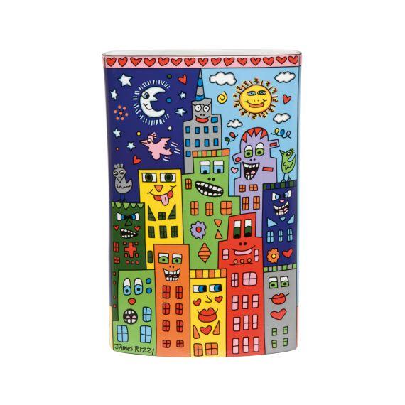 Produktbild von It's Heart Not to Love My City - Vase Pop Art James Rizzi