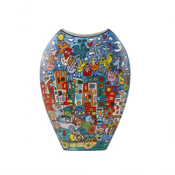 Produktbild von City Birds - Vase Pop Art James Rizzi