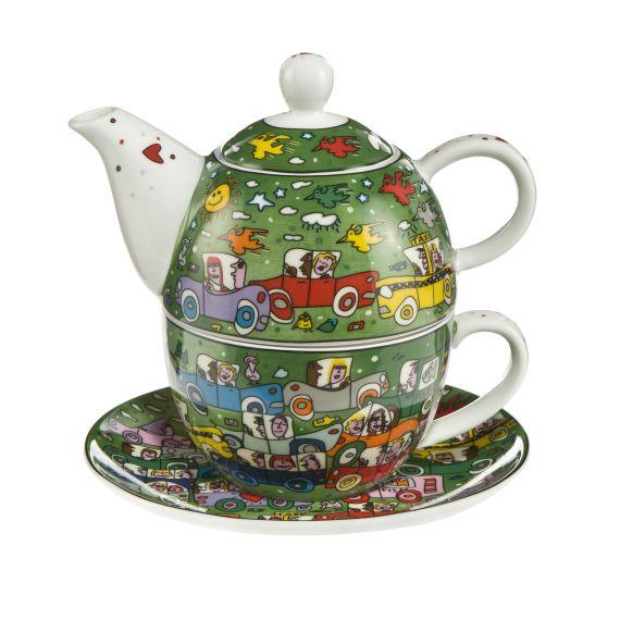 Produktbild von Crosstown Traffic - Tea for One Pop Art James Rizzi