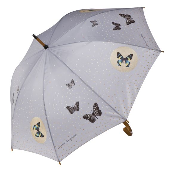 Produktbild von Grey Butterflies - Stockschirm Artis Orbis Joanna Charlotte