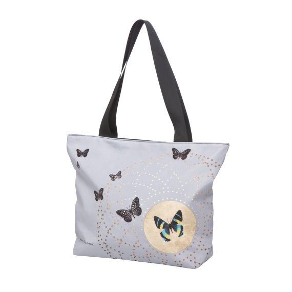 Produktbild von Grey Butterflies - Shopper 44 x 32 cm Artis Orbis Joanna Charlotte