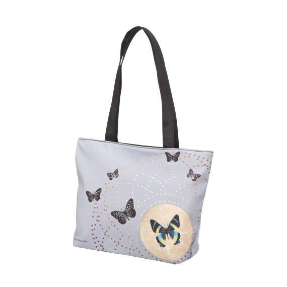 Produktbild von Grey Butterflies - Shopper 35 x 25 cm Artis Orbis Joanna Charlotte