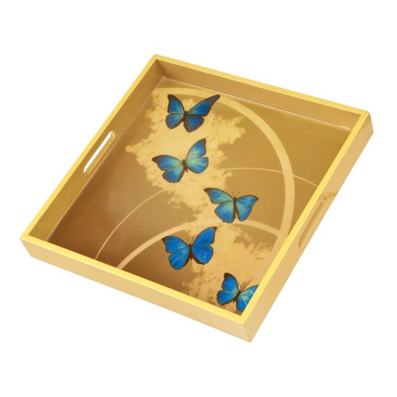 Produktbild von Blue Butterflies - Tablett Artis Orbis Joanna Charlotte