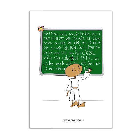 Produktbild von Postkarte - Ich liebe Mich Der kleine Yogi