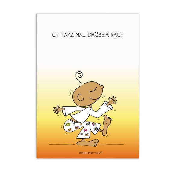 Produktbild von Postkarte - Ich tanz mal drüber nach Der kleine Yogi
