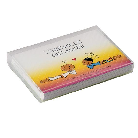 Produktbild von Spruchkärtchen - Liebevolle Gedanken Der kleine Yogi