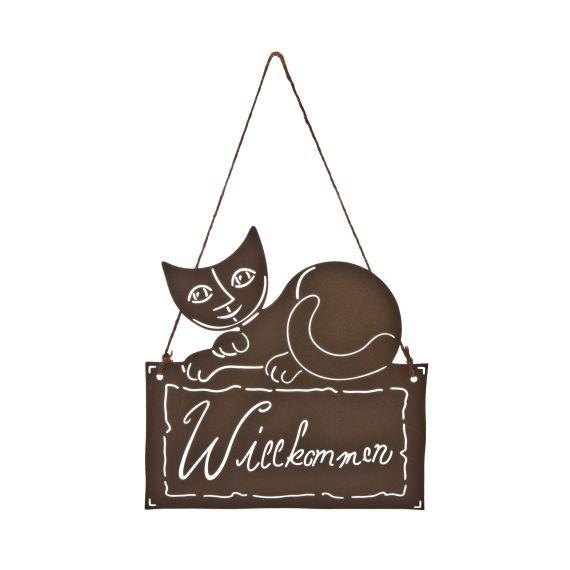 Produktbild von Eloisa - Willkommensschild Metall Rosina Wachtmeister Katzenwelt