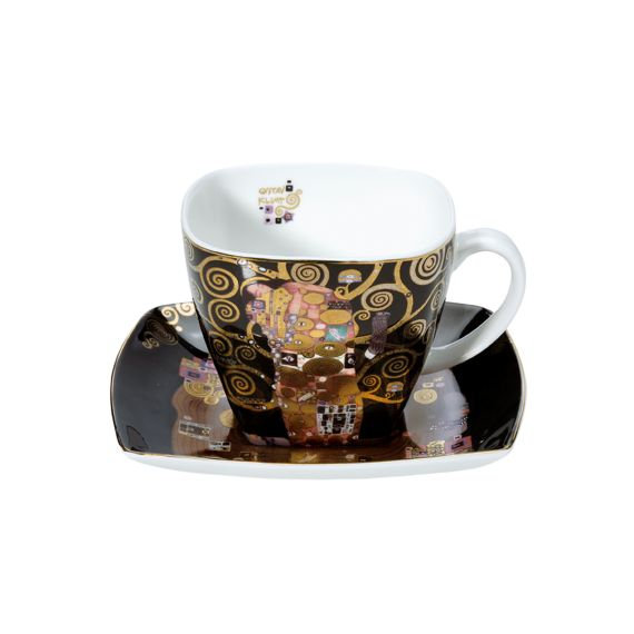 Produktbild von Die Erfüllung - Kaffeetasse Artis Orbis Gustav Klimt