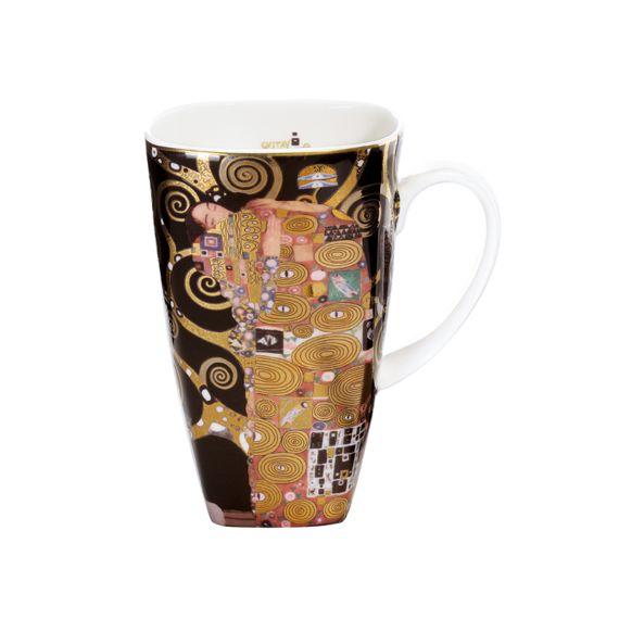 Produktbild von Die Erfüllung – Künstlerbecher eckig hoch Artis Orbis Gustav Klimt