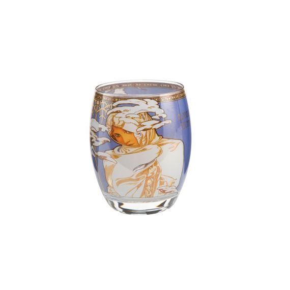 Produktbild von Winter 1900 - Teelicht Glas ø 8,5 cm Artis Orbis Alphonse Mucha