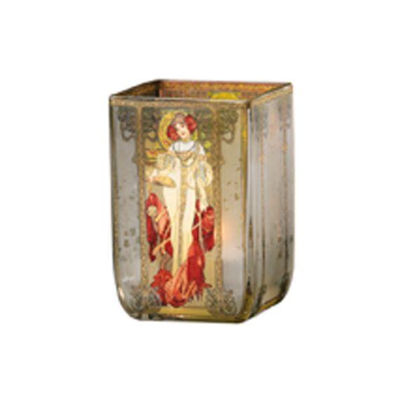 Produktbild von Herbst 1900 - Teelicht Artis Orbis Alphonse Mucha