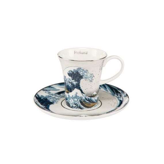 Produktbild von Die Welle - Silber - Espressotasse Artis Orbis Hokusai