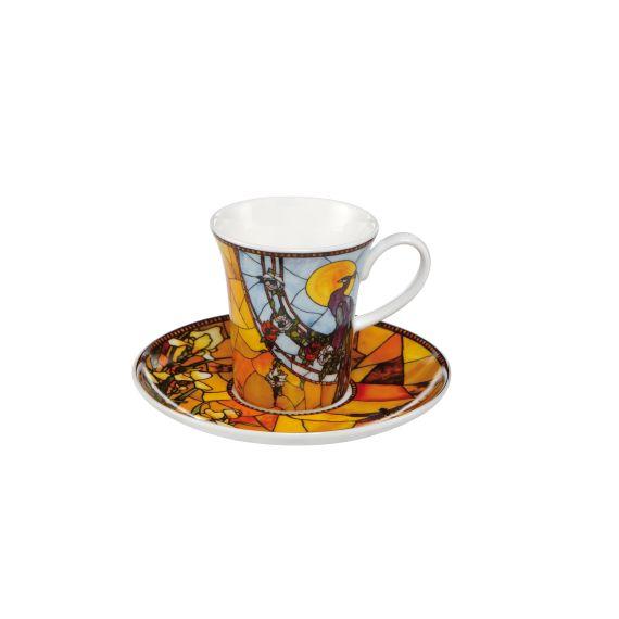 Produktbild von Pfau blau - Espressotasse Artis Orbis Louis Comfort Tiffany